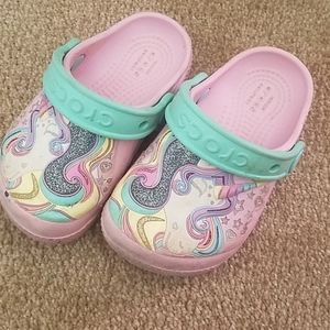 Unicorn crocs